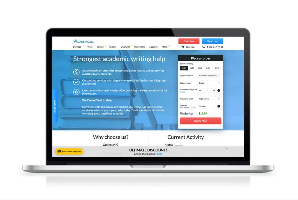 Academized website preview