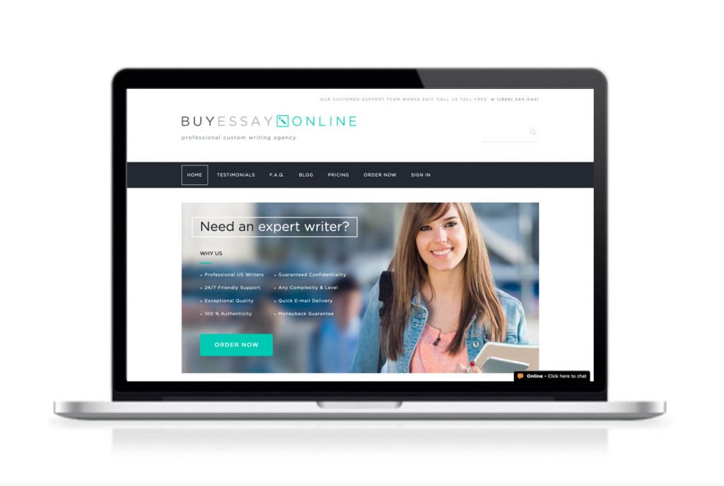 BuyEssayOnline website preview