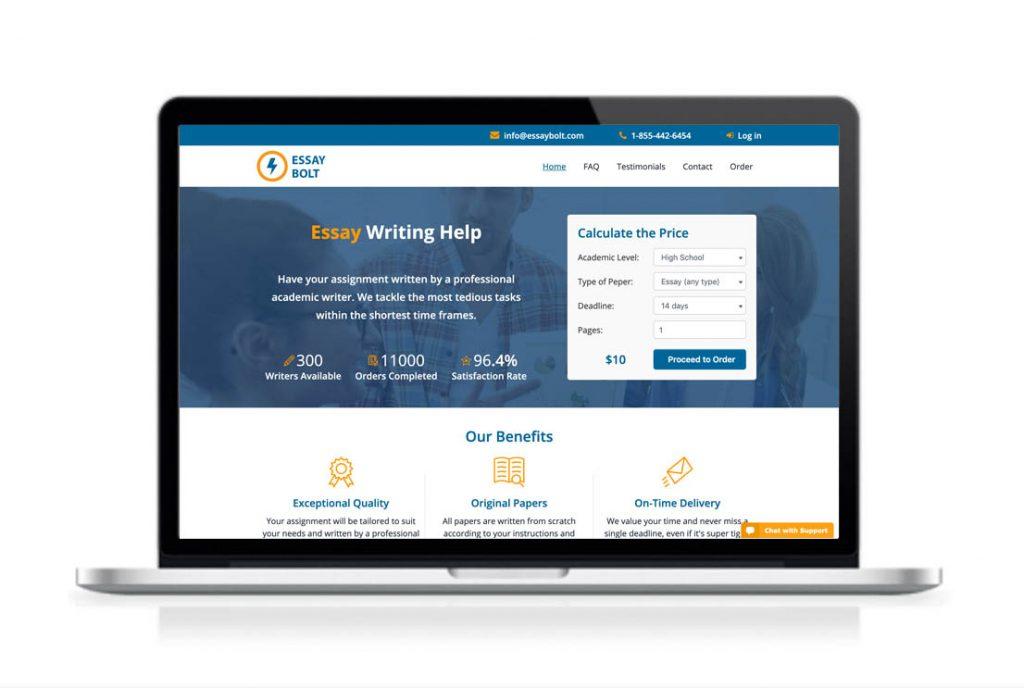 EssayBolt website preview