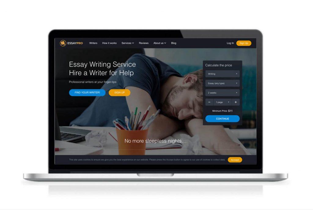 EssayPro website preview