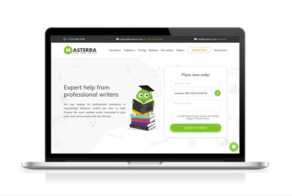Masterra website preview