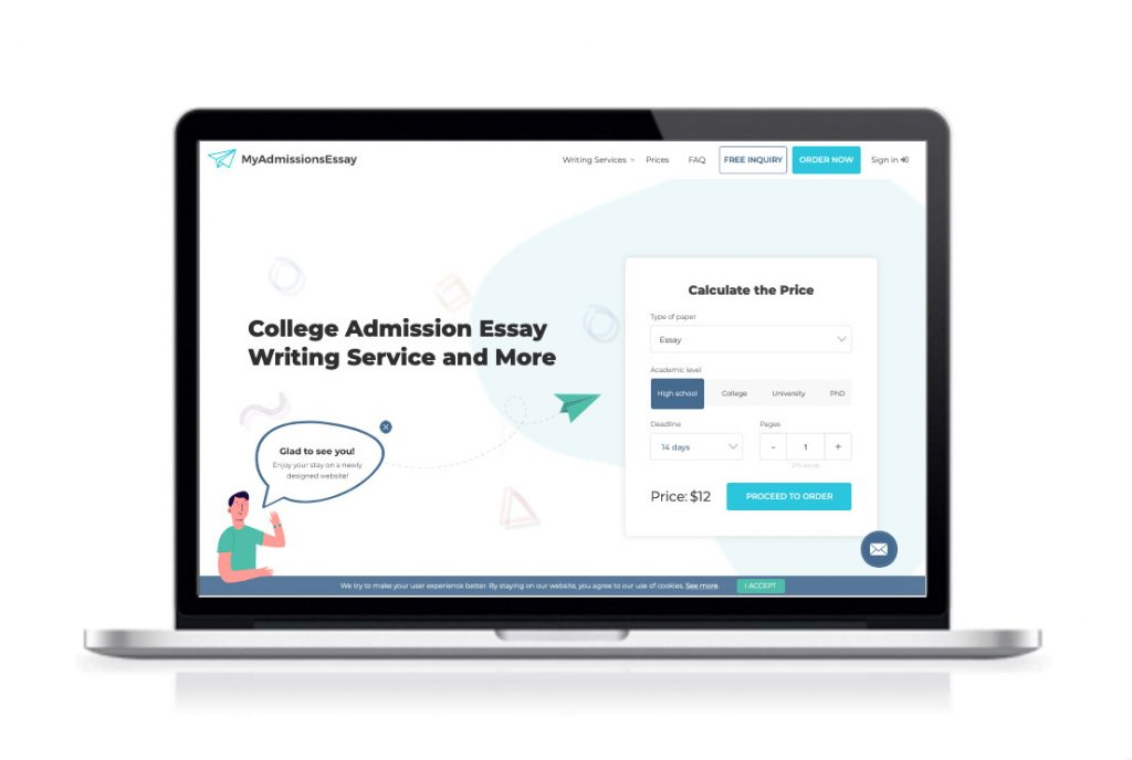 MyAdmissionsEssay website preview