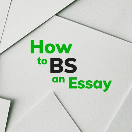 how to bs an essay